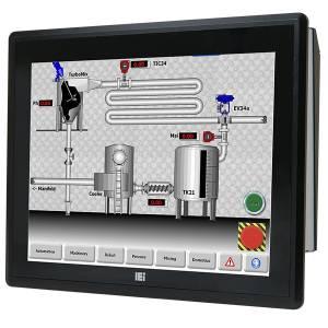 """PPC-F15AA-H81i-P/4G/R Панельная рабочая станция с 15"""" XGA, резистивный сенсорный экран, Intel Pentium G3420 3.2ГГц, 2x2Гб DDR3, 1x2.5"""" HDD/SSD, 2xUSB 3.0, 4xUSB 2.0, 5xCOM, HDMI, VGA, LAN, 2xPCIe mini, Аудио, питание 90-264В AC 220Вт"""