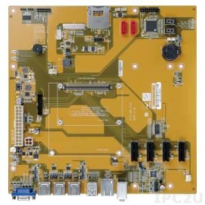 ICE-DB-T10 Базовая плата формата MicroATX для модулей COM Express с разъемом Type 10, 2xSATA, 1xLPC, 2xCOM, 4xPCIe x1, 1xSD, 1x eDP, 1xVGA, 1xTPM (2x10 pin), 1xSMBus (1x4 pin), Audio