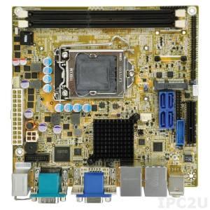 KINO-AQ870 Процессорная плата Mini-ITX SBC, разъем LGA1150 для процессоров Intel Haswell, DVI-D/ VGA/ DP, Dual Intel PCIe GbE, USB 3.0, SATA 6Gb/s, HD Audio и RoHS