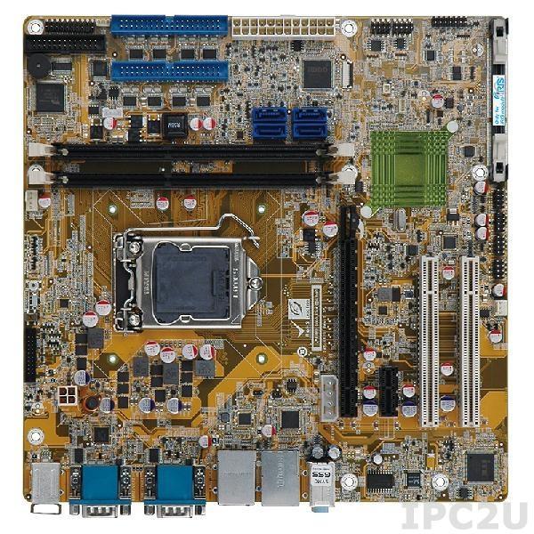 IMB-H810-i2-R11 Процессорная плата Micro-ATX LGA1150 Intel Core i7/i5/i3/Pentium/Celeron, 2x240-pin 1600/1333 DDR3/DDR3L, 11xCOM, LPT, 2xSATA II, 2xSATA III, 10xUSB, 2xRJ-45, 1xPCIe x16, 1xPCIe x1, 2xPCI, Аудио