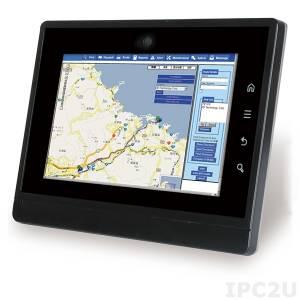 """IKARPC-07A-BTE3/2G-R10 Панельный компьютер для автомобиля с 7"""" TFT LCD, Intel Atom E3826 1.46ГГц, 2Гб DDR3L, 1x microSD, 1xUSB 2.0, 1xUSB 3.0, 2xSIM, OBD-II, GPS, 2МП камера, питание 9-30В DC"""