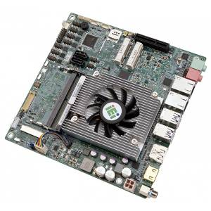tKINO-ULT3-C Процессорная плата Mini-ITX Intel Celeron 3955U до 2.0ГГц, DDR4, 2xHDMI/DP/LVDS/eDP, 2xGB LAN, 4xSOM, 4xUSB 3.0, 2xUSB 2.0, 2xSATA 6G/s, SMBus, I2C, PCIe x4, 2xPCIe Mini, DIO, Audio, питание 9...36В DC