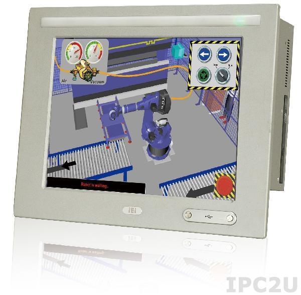 "WIDS-515AD-H61-P/R-R10 Панельная рабочая станция с 15"" 400кд/м2 XGA, резистивный сенсорный экран, Intel Pentium G620T 2.2ГГц, Intel H61, 2GB DDR3 RAM*2, 1x2.5"" SATA HDD, CF, 5xCOM, 6xUSB 2.0, 2xUSB 3.0, 1xPCI/PCIe, 2xRJ45, 2xSFP, WLAN, Аудио, питание 18-36В DC 200Вт"
