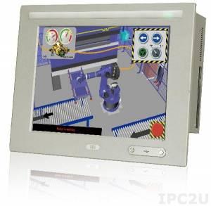 """WIDS-515AD-H61-i5/R-R10 Панельная рабочая станция с 15"""" 400кд/м2 XGA, резистивный сенсорный экран, Intel Core i5-2390T 2.7ГГц, Intel H61, 2GB DDR3 RAM*2, 1x2.5"""" SATA HDD, CF, 5xCOM, 6xUSB 2.0, 2xUSB 3.0, 1xPCI/PCIe, 2xRJ45, 2xSFP, WLAN, Аудио, питание 18-36В DC 200Вт"""