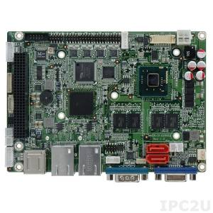 "WAFER-CV-N26002 Процессорная плата формата 3.5"" Intel Atom N2600 1.6ГГц, 2ГБ DDR3, VGA/LVDS, Dual GbE, 4xCOM, 6xUSB 2.0, mSATA, 2xSATA 3Gb/s, 1 x PCIe Mini, 1 x PCIe Mini половинного размера"