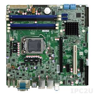 IMB-Q770-R10 Процессорная плата Micro-ATX, 22nm, сокет LGA1155 Intel Core i7/i5/i3 CPU на чипсете Intel Q77, DDR3, VGA/DVI/HDMI, 1xPCIex16, 1xPCIex4, 1xPCIex1, 1xPCI, 2xGbE, 3x USB 3.0, 6xUSB 2.0, 10 COM ,6 SATA, Audio, RoHS