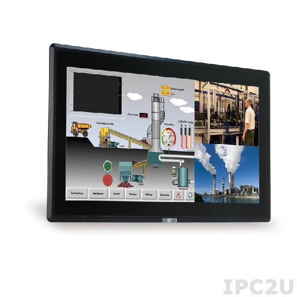 """DM-F22A/PC-R11 Промышленный 21.5"""" LCD монитор, разрешение 1920x1080 FHD, яркость 250кд/м2, емкостный сенсорный экран, алюминиевая передняя панель IP65, 1xVGA, 1xDP, 1xHDMI, 1xUSB 2.0, 1x-RS-232, питание 9-36В DC"""