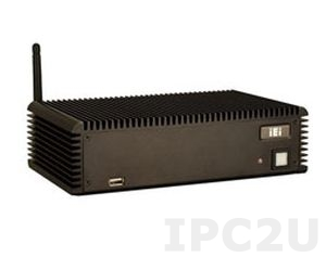 ECW-281B-R11/D2550/2GB Безвентиляторный компактный компьютер с WAFER-CV-D25501, Intel ATOM D2550 1.86 ГГц (2ядра), 2Гб DDR3 SO-DIMM, VGA, 4xCOM, 2xGLAN, 4xUSB 2.0, 2x miniPCIe, 12В DC, адаптер питания 60Вт
