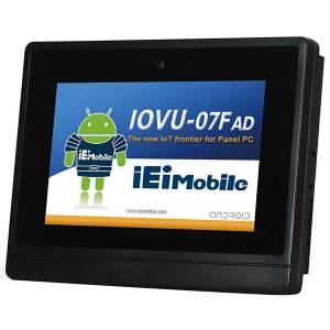 "IOVU-07F-AD-WBC-POE-R10 Безвентиляторный панельный компьютер 7"" TFT LCD, резистивный сенсорный экран, Freescale iMax6 Cortex-A9 1.2ГГц, CAN, WiFi/Bluetooth, Camera, POE, Android 4.2"