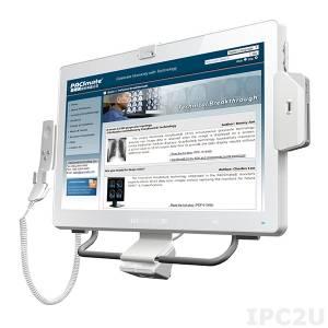 "POC-W22A-H81i-i3/PC/4G Медицинская панельная рабочая станция 21.5"" FHD LED, емкостный сенсорный экран, Intel Core i3-4330TE 2.4ГГц, 4Гб DDR3, 1x2.5""SATA HDD, 1xCOM, 6xUSB, 2xGbE LAN, VGA, HDMI, 1xPCIe Mini, Wi-Fi, 2МП камера, Аудио, адаптер питания 19В DC 100-240В AC"