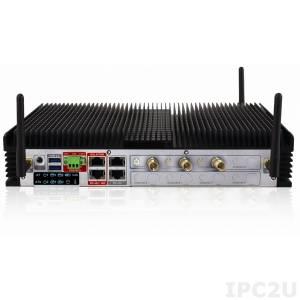 "HDCS-7002-S/SC/LF64 Встраиваемый безвентиляторный компьютер для видео наблюдения, Intel QM67 чипсет, процессор Intel Core i7, 2Гб DDR3, 2.5"" 500Гб HDD, установлено 2 карты видео захвата (SDI), Linux Fedora 64-bit"