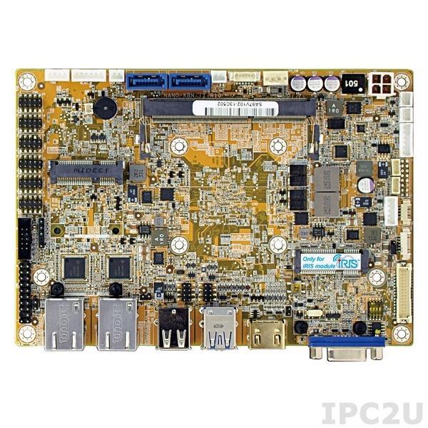 NANO-KBN-i1-2101-R10 Процессорная плата формата EPIC, поддержка процессора AMD 28нм 1.0ГГц c DDR3, VGA/HDMI/LVDS, 2xGb LAN, 6xCOM, 2xUSB 3.0, 6xUSB 2.0, 2xSATA 6G/s, DIO, Audio, полноразмерный слот PCIe Mini