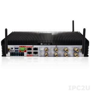 TANK-700-QM67W-i5/2G Защищенный компьютер, Intel Core i5 2.5ГГц, Intel QM67, 2Гб DDR3 RAM, VGA/HDMI, 2xGb LAN, 8xCOM, 6xUSB, DIO, изолированный CAN, установлен модуль беспроводной связи 3T3R 802.11a/b/g/n, 9-36V 12V, расширенный температурный диапазон -20..70С