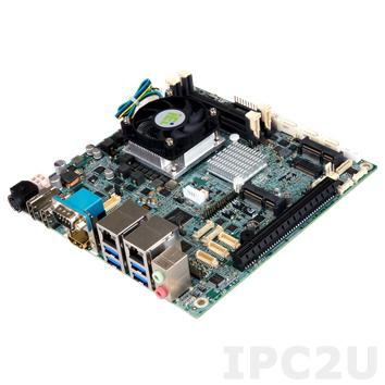 KINO-DQM170-CE-R10 Процессорная плата Mini-ITX SBC, Intel Celeron G3902E 1.6ГГц, LGA1151, Intel QM170, 2x260-pin SO-DIMM DDR4-2133, 4xSATA, 3xHDMI, 6xCOM, 8xUSB, 2xGbE LAN, 1xPCIe x16, 1xMini PCIe (mSATA), 1xHalf Mini PCIe, M.2, Аудио, SMBus, DIO