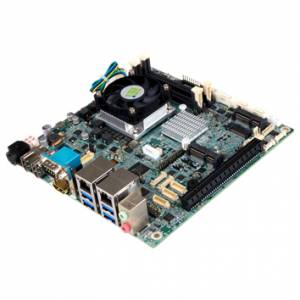 KINO-DQM170-i5 Процессорная плата Mini-ITX SBC, Intel Core i5-6440EQ 3.4ГГц, LGA1151, Intel QM170, 2x260-pin SO-DIMM DDR4-2133, 4xSATA, 3xHDMI, 6xCOM, 8xUSB, 2xGbE LAN, 1xPCIe x16, 1xMini PCIe (mSATA), 1xHalf Mini PCIe, M.2, Аудио, SMBus, DIO