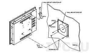 WK-190MS Рамка крепежная для монтажа дисплеев серии DM-84/104/121/150/170/190G на стену, сталь