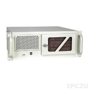 """RACK-305GWATX/A130B 19"""" корпус для ATX платы 4U, 7 слотов, отсеки 3x5.25""""/1x3.5"""", 2 шт 8 см вентилятора, Цвет белый"""
