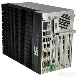 "TANK-820-H61-i5/2G/2P1E Защищенный компьютер с процессором Intel Core i5 Dual Core 2xxT, Intel H61 чипсет, 2Гб DDR3 RAM, VGA/DVI-I, 2xRJ-45 GB LAN, 8xCOM, 2xUSB 3.0, 4xUSB 2.0, 1xPCIe x8, 2xPCI, отсек 2.5"" SATA HDD, CompactFlash, Audio, -20...+60C"