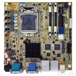 KINO-DH810-R10 Процессорная плата Mini-ITX SBC, i7/i5/i3/Pentium/Celeron LGA1150, чипсет Intel H81, 204-pin DDR3 1066/1333/1600МГц, 1xVGA, 1xDVI-D, 1xiDP, 5xRS-232, 1xRS-422/485, 6xUSB 2.0, 2xUSB 3.0, 2xSATA 6Gb/s, 1xPCIe x1, 2xLAN, HD Audio