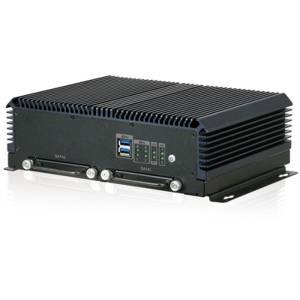 IVS-300-ULT3-i5/4G Безвентиляторный компьютер с Intel Core i5-6300U, 4GB DDR3L RAM, HDMI, VGA, 4xGbE LAN (4xPoE IEEE802.3af), 2xRS-232, 1xRS-422/485, CAN-Bus/OBD-II, 2xUSB, отсеки 2x2.5'' SATA 3GB/s HDD/SSD, 2xSIM, 3xPCIe Mini, 4DI/4DO, 9...36В DC, -20...+60C