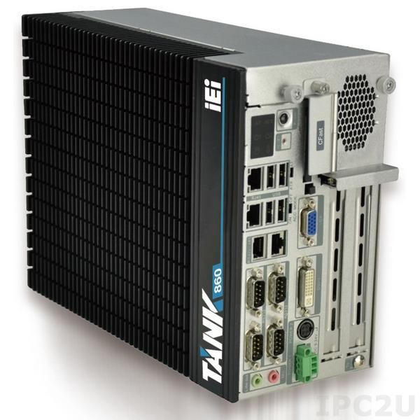 "TANK-860-QGW-i5/8G/2A-R10 Защищенный компьютер Intel Core i5-4400E 2.7Ггц, 2x4Гб DDR3 RAM, VGA/DVI-I/DisplayPort, 2xLAN, 4xCOM, 6xUSB, 2xPCIe x8, 2 отсека 2.5"" SATA HDD, CFast, mSATA, Audio, -20...+60C"