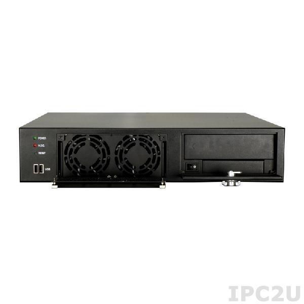 """RACK-220GB/A130B 19"""" корпус 2U, Для полноразмерной объединительной платы формата PICMG 1.0, 2 х 8 см кулер, Источник питания ACE-A130B 300Вт ATX"""
