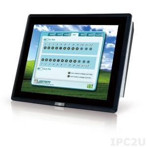 """PPC-F17AA-H81i-i3/4G/PC-R12 Панельная рабочая станция с 17"""" SXGA, емкостный сенсорный экран, Intel Core i3-4330 3.5ГГц, 2x2Гб DDR3, 1x2.5"""" HDD/SSD, 2xUSB 3.0, 4xUSB 2.0, 5xCOM, HDMI, VGA, LAN, 2xPCIe mini, Аудио, питание 90-264В AC 220Вт"""