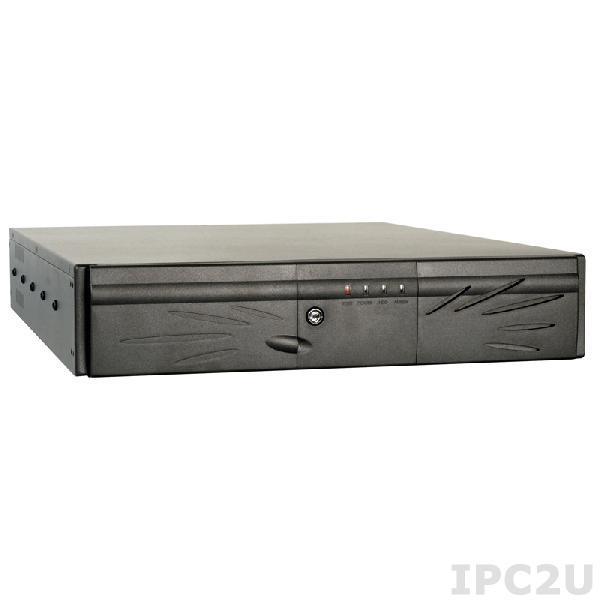 """RACK-2100GB/PE-6SD3/A130B 19"""" корпус 2U для PICMG 1.3, 6 слотов, отсеки 1x5.25""""/2x3.5"""", PE-6SD3, источник питания ACE-A130B-R10, черный"""