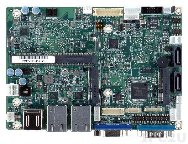 "WAFER-CV-N26001-R10 Процессорная плата формата 3.5"" Intel Atom N2600 1.6ГГц, DDR3, VGA/LVDS, Dual GbE, 4xCOM, 6xUSB 2.0, mSATA, 2xSATA 3Gb/s, 1 x PCIe Mini, 1 x PCIe Mini половинного размера"
