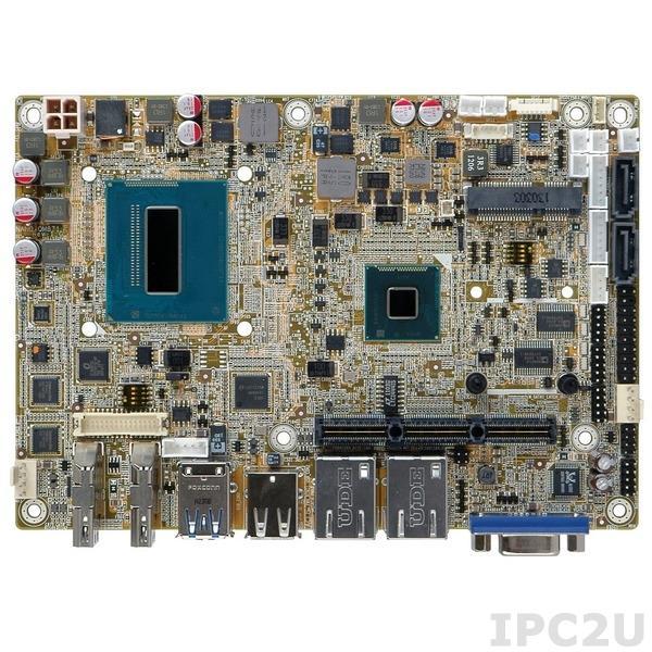 NANO-QM871-i1-i3-R10 Процессорная плата EPIC, процессор Intel Core i3-4100E, до 8Гб DDR3, LVDS, VGA, 2xHDMI, 2xGbE LAN, 3xCOM, 6xUSB, Mini-PCIe, SATA 3.0, Audio, iRIS-1010