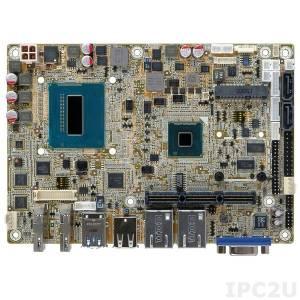 NANO-QM871-i1-i3 Процессорная плата EPIC, процессор Intel Core i3-4100E, до 8Гб DDR3, LVDS, VGA, 2xHDMI, 2xGbE LAN, 3xCOM, 6xUSB, Mini-PCIe, SATA 3.0, Audio, iRIS-1010