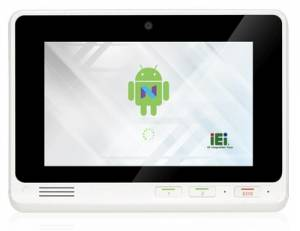 "IOVU-207AR-RK39-EU Безвентиляторный панельный компьютер 7"" TFT LCD, емкоcтный сенсор, Rockchip RK3399 (Cortex-A72 1.8 ГГц+Cortex-A53 1.5 ГГц), 2 ГБ LPDDR3-1866 МГц, 16 ГБ eMMC Flash, Camera, WiFi/Bluetooth,1xGbE LAN POE, 4xGPIO,Android 7.1, NFC, 3xUSB, DC 9-30 B"
