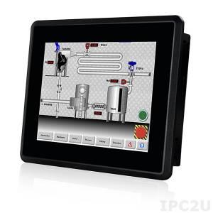 """DM-F08A/R Промышленный 8"""" LCD монитор, разрешение 800x600 XGA, яркость 500кд/м2, резистивный сенсорный экран, алюминиевая передняя панель IP65, 1xVGA, 1xDVI, 1xUSB 2.0, 1x-RS-232, питание 12В DC"""