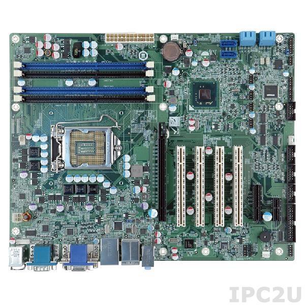 IMBA-Q670-R30 Процессорная плата ATX, Intel Core i7/i5/i3/Pentium/Celeron LGA1155, чипсет Intel Q67, 240-pin DDR3 1333/1066МГц, 1xVGA, 1xHDMI, 1xDVI-D, 6xCOM, 1xLPT, 1xPS/2, 12xUSB, 6xSATA, 1xPCIe x16, 1xPCIe x1, 1xPCIe x4, 4xPCI, LAN, Audio