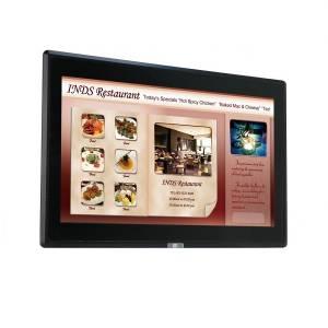 """DM-F24A/PC-R20 Промышленный 24"""" LCD монитор, разрешение 1920x1080 FHD, яркость 250кд/м2, емкостный сенсорный экран, алюминиевая передняя панель IP65, 1xVGA, 1xDP, 1xHDMI, 1xUSB 2.0, 1x-RS-232, питание 9-36В DC"""