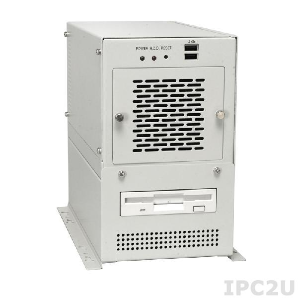 """PAC-42GHW-R11/916AP/IP-4S Монтируемый на стену корпус половинной длины, с объединительной платой 3xPCI, отсеки 2x3.5"""", источник питания ACE-916AP-RS 150Вт AT, RoHS"""