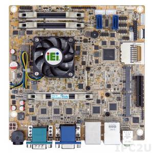 KINO-KBN-i2-4151-R10 Процессорная плата Mini-ITX s AMDR 28nm Quad-Core GX-415GA 1.5ГГц, VGA/Dual GbE, 2xPCIe Mini, USB 3.0, SATA 6GB/s, iRIS-2400, Аудио, RoHS