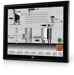 """DM-F12A/R Промышленный 12"""" LCD монитор, разрешение 1024x768 XGA, яркость 600кд/м2, резистивный сенсорный экран, алюминиевая передняя панель IP65, 1xVGA, 1xDP, 1xHDMI, 1xUSB 2.0, 1x-RS-232, питание 9-36В DC"""