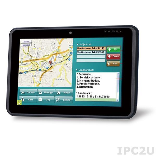 """IKARPC-W10A-BT-E3/2G-R10 Панельный компьютер для автомобиля с 10.1"""" TFT LCD, Intel Atom E3826 1.46ГГц, 2Гб DDR3, 1x2.5"""" SATA HDD/SSD отсек, 2xCOM, 2xUSB, 1xGbE LAN, HDMI, CAN-bus, GPS, 2xSIM, GPIO, 2xPCIe Mini, 2МП камера, Аудио, питание 9-30В DC"""