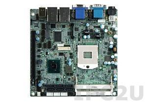 KINO-QM57A-R10 Процессорная плата Mini-ITX Core i7/i5 Socket-G, DDR3 SO-DIMM, 2xGbe LAN, 8xUSB, 6xSATA,VGA, LVDS, 2xHDMI, Audio, вход 12В DC
