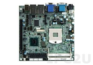 KINO-QM57A-R10 Процессорная плата Mini-ITX Core i7/i5 Socket-G, DDR3 SO-DIMM, 2xGbe LAN, 8xUSB, 6xSATA,VGA, LVDS, 2xHDMI, Audio, вход 12В DC