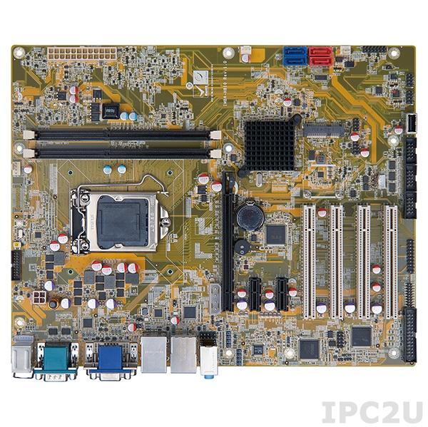 IMBA-H810-R10 Процессорная плата ATX, H81, LGA1150 разъем для Intel Core i7/i5/i3 (Haswell) с DDR3, VGA/DVI-D/iDP, 5xRS-232, 1xRS-422/485, 6xUSB 2.0, 2xUSB 3.0, 2xGbit LAN, 2xSATA II, 2xSATA III, HD Аудио, 1xPCIe x16, 2xPCIe x1, 4xPCI, 1xPCIe Mini