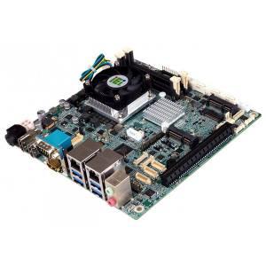 KINO-DCM236-E3-R10 Процессорная плата Mini-ITX Intel Xeon E3-1505M v5(45W), 2x260-pin DDR4 SO-DIMM 2133MHz, 1xLVDS, 3xHDMI, 4xSATA 6 Gb/s, 3xRS-232, 2xRS-232/422/485, 4xUSB 3.0, 1xPCIe x16, 1xM.2, 2x PCIe Mini, 2xLAN, 2xAudio jack, 1xFront audio