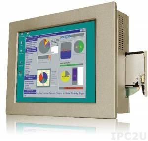 "PPC-5170A-H61-P/R-R10 Панельная рабочая станция с 17"" TFT LCD, алюминиевая передняя панель, Intel Dual Core G6xxT (свыше 2,2ГГц), TDP 35Вт, 2х2Гб DDR3, отсек 1x2.5"", отсек для Slim DVD-ROM, 1xCF II, 1xPCI или 1xPCIe, БП ACE-A622A"