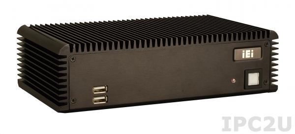 ECW-281B2-R12/D525/1GB Встраиваемая безвентиляторная рабочая станция с WAFER-PV-D5252, Dual core Intel Atom D525 1.8GHz, 2 x VGA, 5 серийных портов, 1GB DDR3,12VDC,60W источник питания с ERP и PSE сертификатами, Черный