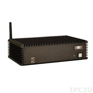 ECW-281BWD-R11/D525/1GB Встраиваемая безвентиляторная рабочая станция с WAFER-PV-D5252, Dual core Intel Atom D525 1.8GHz, 6 серийных портов, 1GB DDR3, 9-36VDC, Без источника питания, Черный