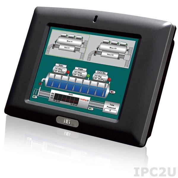 "IOVU-572M-CE6/WOWL/-R12 Безвентиляторный панельный компьютер 5.7"" TFT VGA LCD, резистивный сенсорный экран, Marvell PXA310-B1 624 МГц, 256 Мб DDR2, 1xRS-232/422/485, 2xLAN, 2xUSB 1.1, 1xSD слот, Audio, Win CE 6.0, питание 12-36В DC 14Вт"