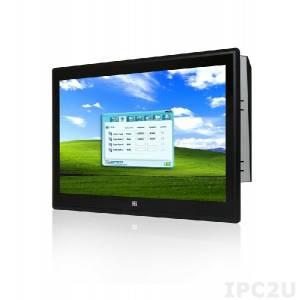 """PPC-F24AA-H81i-P/4G/PC Панельная рабочая станция с 24"""" FHD, емкостный сенсорный экран, Intel Pentium G3420 3.2ГГц, 2x2Гб DDR3, 1x2.5"""" HDD/SSD, 2xUSB 3.0, 4xUSB 2.0, 5xCOM, HDMI, VGA, 2xLAN, 2xPCIe mini, Аудио, питание 90-264В AC 220Вт"""