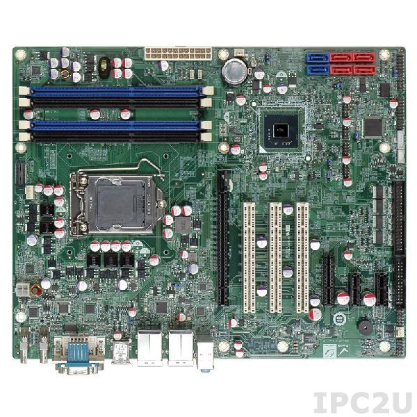 IMBA-Q770-R10 Процессорная плата ATX, Intel Core i7/i5/i3 LGA1155, чипсет Intel Q77, 240-pin DDR3 1600/1333МГц, 1xHDMI, 1xDVI-I, 5xRS-232, 1xRS-422/485, 1xLPT, 10xUSB 2.0, 4xUSB 3.0, 2xSATA 6Gb/s, 4xSATA 3Gb/s, 1xPCIe x16, 2xPCIe x1, 1xPCIe x4, 3xPCI, LAN, Audio