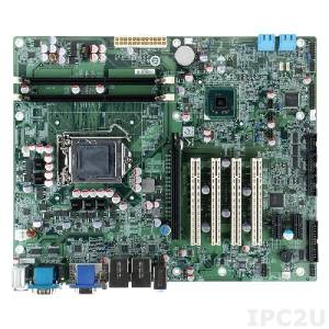 IMBA-H610-R10 Процессорная плата ATX 32nm LGA1155 разъем для Intel Core i7/i5/i3 с DDR3, VGA/DVI-D, 2xGbit LAN, 4xSATA II, HD Audio, PCIe x16, 2xPCIe x1, 4xPCI